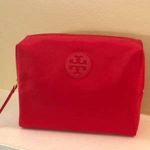 NWT~TORY BURCH~Large Nylon Brigette Cosmetic Case